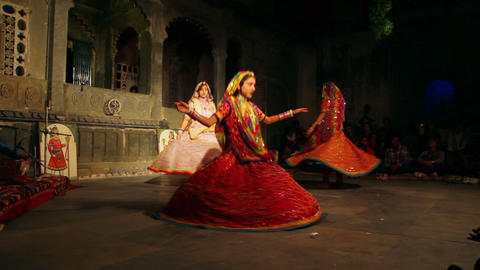 Dances of Rajasthan - performance in Udaipur India Footage