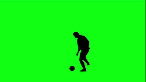 Footballer Juggling The Ball stock footage