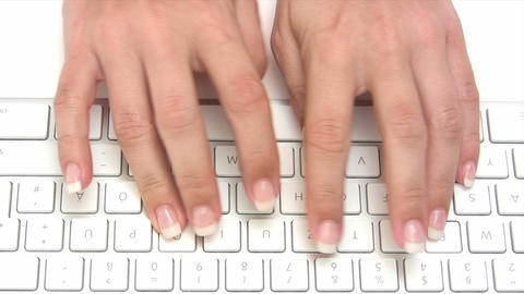 Typing on a Keyboard Footage