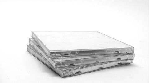 Stacking CD Cases stock footage