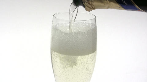 Having A Glass Of Champagne stock footage