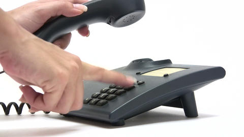 Making A Business Call stock footage