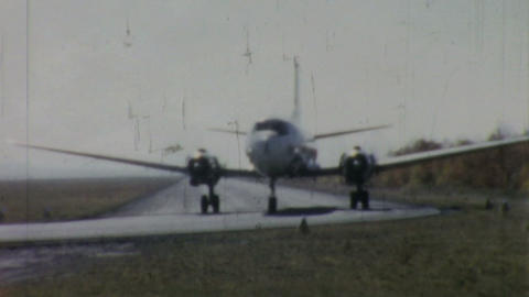 Allegheny Airlines Airplane On Runway 1958 Footage