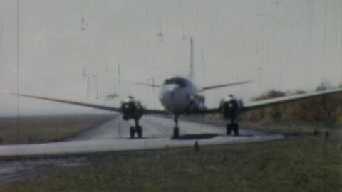 Allegheny Airlines Airplane On Runway 1958 Footage