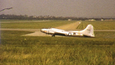 Old Military Aircraft Prepares For Take Off 1972 Footage