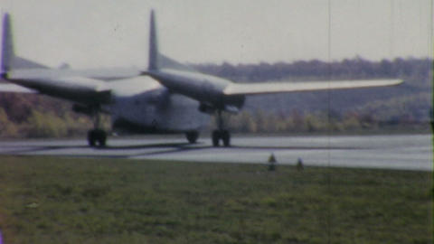 Old Military Cargo Aircraft Takes Off 1958 Vintage Footage
