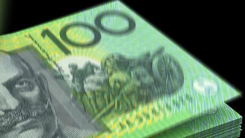 Counting Australian Dollar Animation