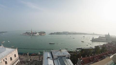 San Giorgio Maggiore island top view from San Marc Footage