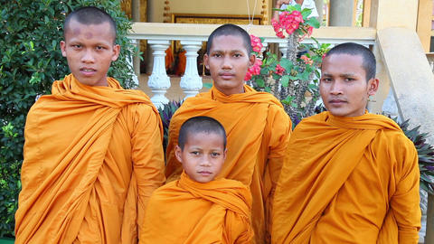 Monks boys. Phnom Penh. Cambodia Footage