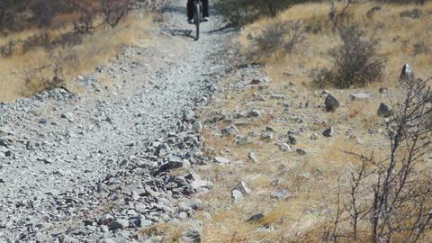 Mountain Biking Desert Perspective Footage