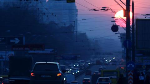 urban sunset road b Footage