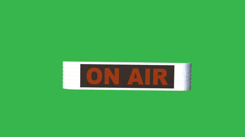 "Animated ""On Air"" Sign: Loopable + Matte Animation"