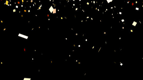 Loopable Confetti Gold Alpha HD stock footage
