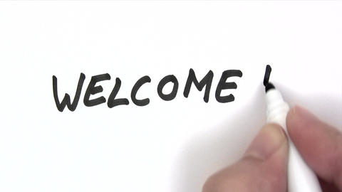 Welcome stock footage