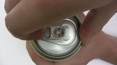 Opening a Beer Can Footage