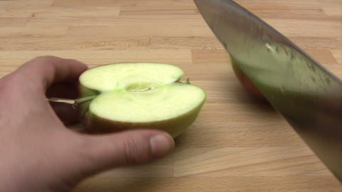 Cutting an Apple Footage