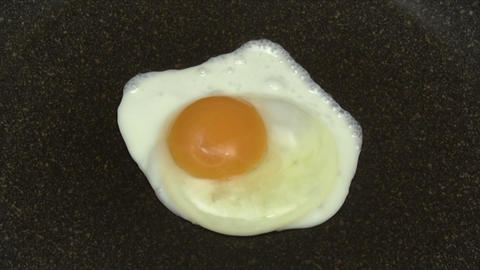 Fried Egg - Time Lapse stock footage