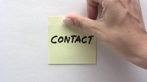 Contact Note stock footage