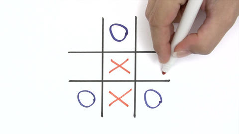 Playing Tic-Tac-Toe Footage