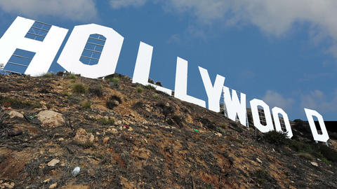 Hollywood Sign 1 stock footage