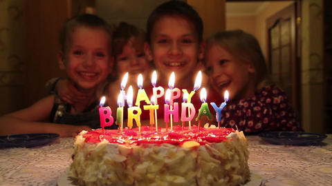 Birthday Cake HD stock footage