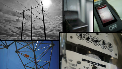 Electrical Energy Collage Footage