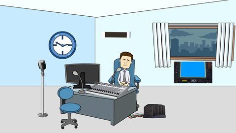 Broadcasting Studio Animation: Looping Animation