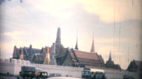 Grand Palace Temple Wat Pra Gaeow Bangkok Thailand Footage