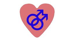 Gay Men Heart, Rotating Animation