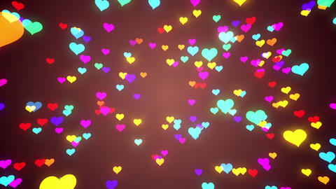 Sparkle Heart Particles B LA 2 HD Stock Video Footage
