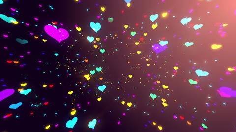 Sparkle Heart Particles B LB 2 HD Animation