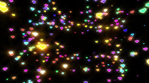 Sparkle Heart Particles B MA 2 HD CG動画