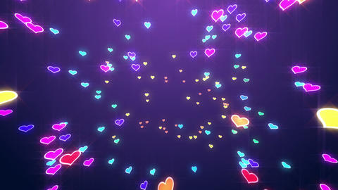 Sparkle Heart Particles B MB 2 HD Stock Video Footage