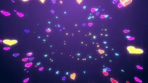 Sparkle Heart Particles B MB 2 HD Animation