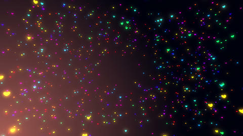 Sparkle Heart Particles B SA 2 HD Animation