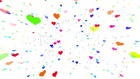 Sparkle Heart Particles W LB 2 HD Animation
