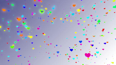 Sparkle Heart Particles W MA 2 HD Stock Video Footage