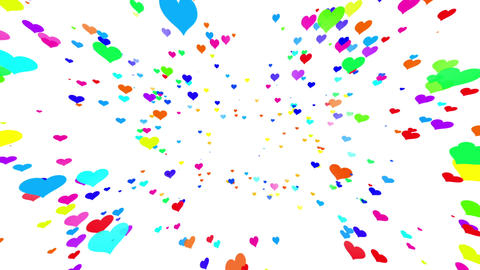 Sparkle Heart Particles W MB 2 HD Stock Video Footage