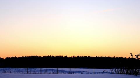 Sunset, twilight, stars. Time Lapse Footage