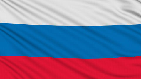 Russia flag, with real structure of a fabric Animation
