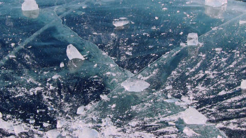 Baikal Ice stock footage