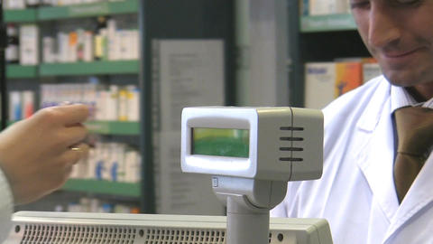 Pharmacist stock footage