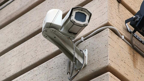 CCTV Security Video Camera stock footage