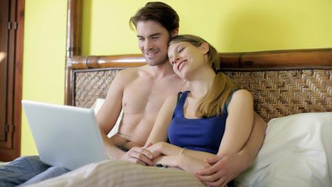 Watching Movie on Laptop Footage