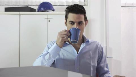 Overworked Businessman Footage