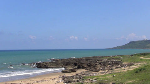 Coastline Of Kenting National Park .taiwan stock footage