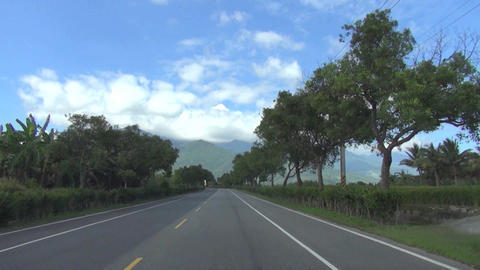driving through the country road and farm Footage