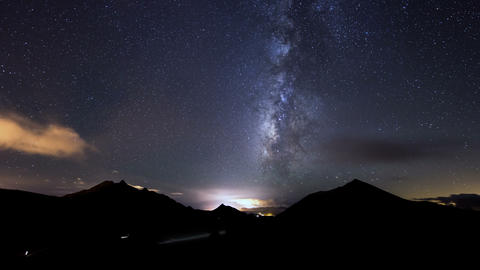 4k UHD clouds and milky way time lapse 11319 Footage