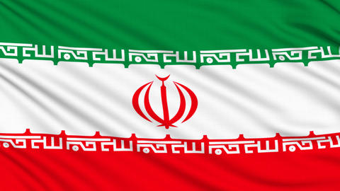 Iran flag, with real structure of a fabric Animation