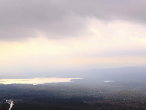 Winter landscape in bad weather. Time Lapse. 640x4 Footage
